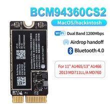 Kablosuz BCM94360CS2 Wifi kartı 1200Mbps Bluetooth 4.0 802.11ac Hackintosh için macOS için 11