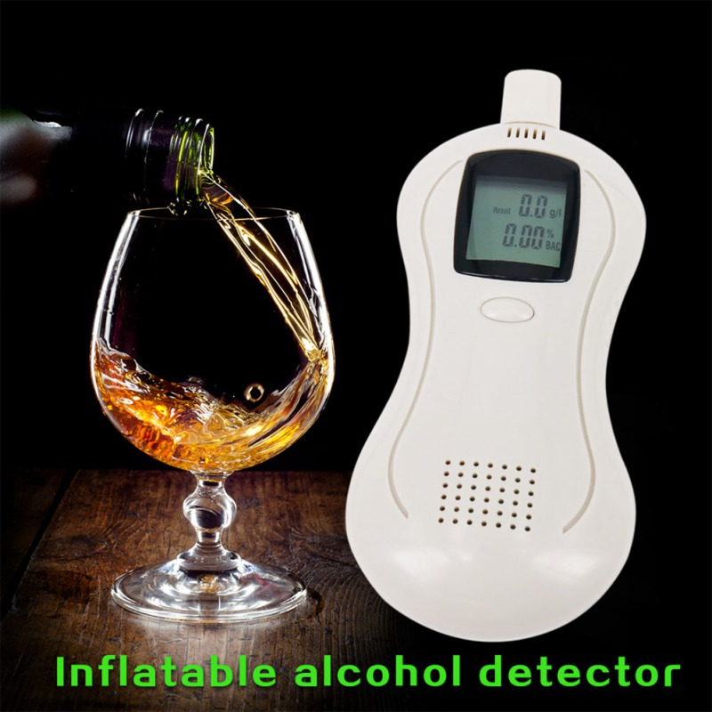 Professional Digital LCD Backlit Display Alcohol Tester Breath Analyzer Detector Breathalyzer Alcoholic Meter Analyzer