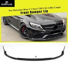 Lame de pare-choc avant en Fiber de carbone FRP, pour Mercedes Benz classe C W205 C205 C63 AMG coupé 2 portes 2015 – 2019
