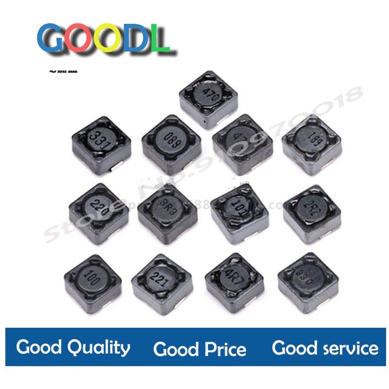 5 pces cdrh74r indústria fio ferida chip protegido indutor 2.2/3.3/4.7/10/22/33/47/68/100/220/330/uh 7*7*4mm smd potência indução