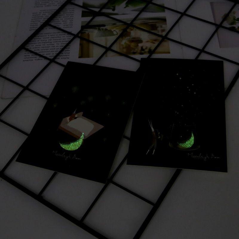 30pcs Vintage Luminous Postcard Glow In The Dark Moon Light Greeting Post Card Novelty Xmas Greeting Cards Gift