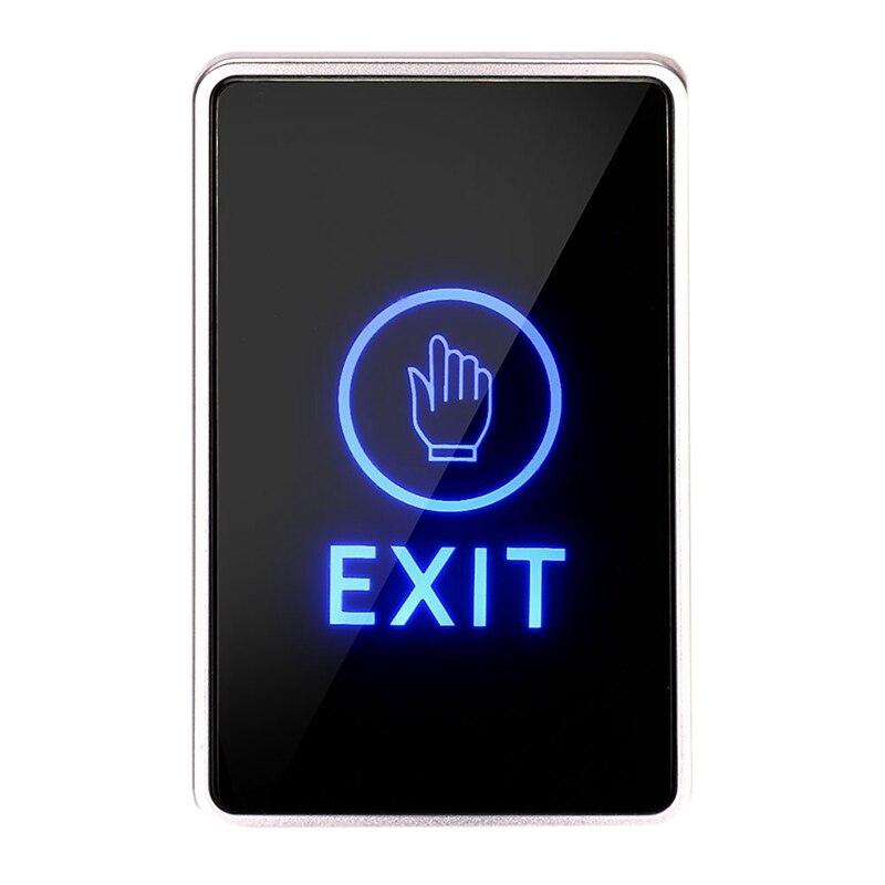 FFYY-Dc 12V Nc No Rectangular,Contact Sensor Door Exit Release Button Switch Led Light