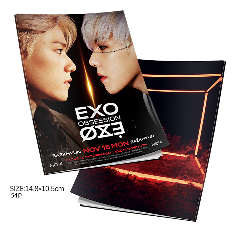 EXO Obsession Official Photo Book Baekhyun Personal Mini Photo Book Poster Picture HD Photograph Kpop EXO-L Gift