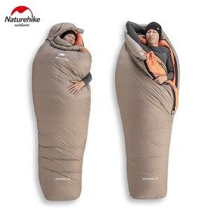 Image 5 - Naturehike white goose down sleeping bag 미라 750fp 야외 캠핑 및 하이킹 nh19yd004 용 성인 방풍 방수