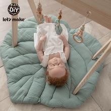 Скандинавский мягкий ковер для новорожденных, мультяшный половик с листьями ползающий ребенок, одеяло, ковер, игрушка, детские игровые ковр...