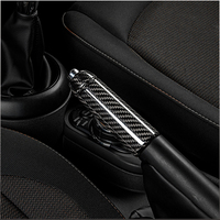 Car Carbon fiber Hand Brake Shell Interior Trim Parking Lever Decoration Cover Styling Accessories For MINI COOPER S F55 F56 F57