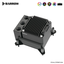 Barrowch POM CPU Block Pompa Serbatoio 17W PWM Intelligente Della Pompa di Tre In Un Unico OLED Display Digitale, LTPRP-04/FBLTPRP-04