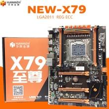 HUANANZHI Deluxe X79 2011 DDR3 PC เดสก์ท็อปเมนบอร์ดคอมพิวเตอร์เมนบอร์ดคอมพิวเตอร์ 3 * PCI E x16 7.1 Sound TRACK CrossFire