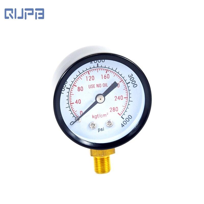 PCP Paintball Pressure Gauge 4000psi Manometre 40mm Diameter M10x1