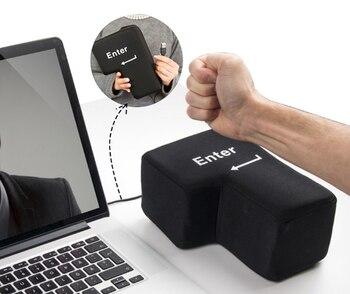 Juguete de peluche para aliviar el estrés con llave de entrada grande USB, juguetes de almohada para mesa, alivio del estrés, relleno de talla grande, acento de escritorio F