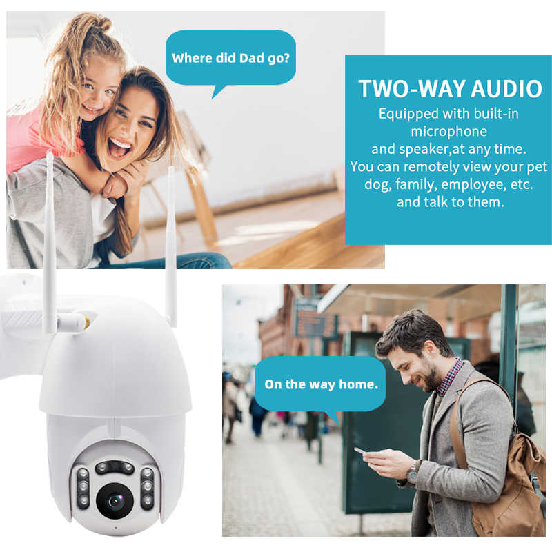 1080P IP كاميرا PTZ IP كاميرا WiFi اللاسلكية السيارات تتبع سرعة كاميرا بشكل قبة في الهواء الطلق CCTV IR الرئيسية الأمن مراقبة كاميرا