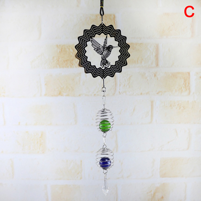 NEW 3D Bamboo Hanging Wind Spinner Wind Chime Windchime Crafts Yard Home Decor