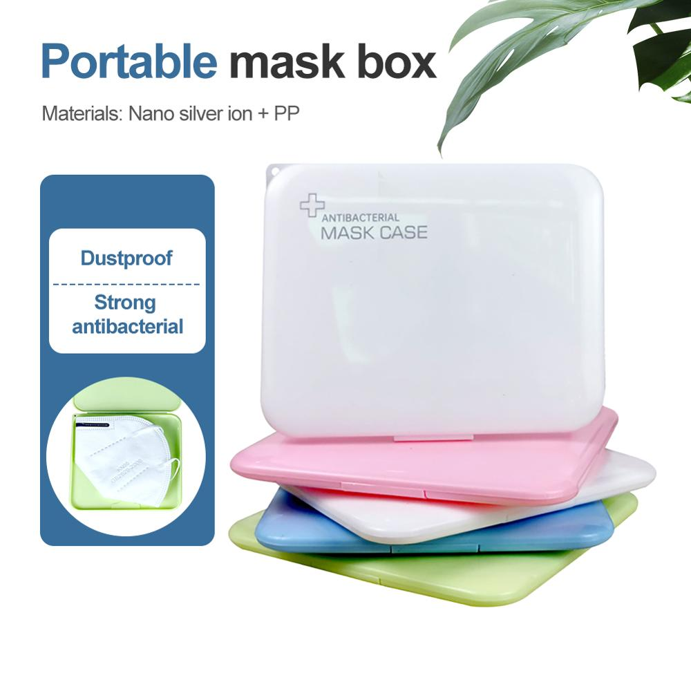 KN95 PP Silver Ion Mask Storage Case Disposable Mask Storage Box N95 Portable Mask Storage Box Face Mask Storage Holder Case(China)