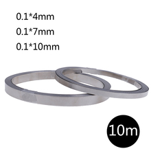 1pc 10m Pure Ni Plate Nickel Strip Tape For Li 18650 Battery Spot Welding 0.1mm Thickness High Quality