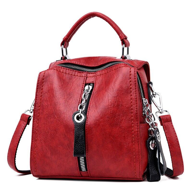 MANHAN Women Backpack High Quality PU Leather Backpack Women 2020 New Fashion Backpack Female School Bags For Teenage Girls