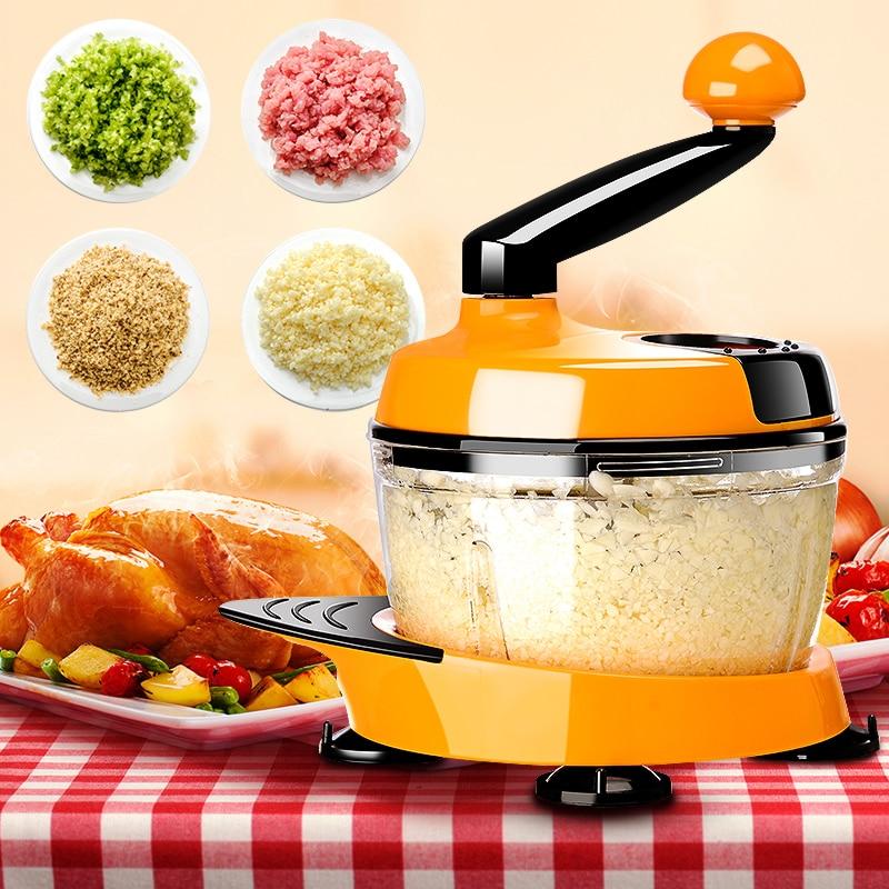 Migecon Multi-function Kitchen Manual Food Processor Household Meat Grinder Vegetable Chopper Quick Shredder
