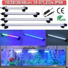 LED Aquarium Light Lamp ank Underwater Lighting Lamp Tower Lights White Blue RGB Color IP68 Waterproof 18-48cm/7-19inch D30
