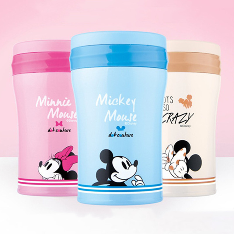 500mL Disney Mickey Minnie Mouse Cartoon Water Cup 304 Stainless Steel Vacuum Insulation Mug Portable Steamer Pots Women Gifts