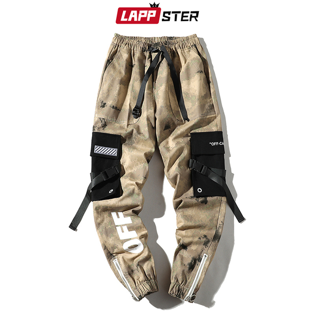 LAPPSTER Men Streetwear Ribbons Cargo Pants 2020 Mens Camouflage Joggers Hip Hop Korean Fashions Designer Camo Sweatpants INS 3