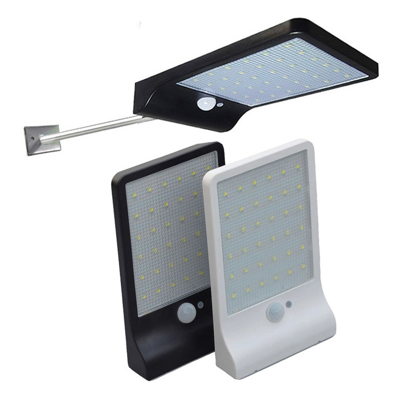 Newest 450LM 48 LED Solar Power Street Light PIR Motion Sensor Lamps Garden Security Lamp Outdoor Street Waterproof Wall Lights