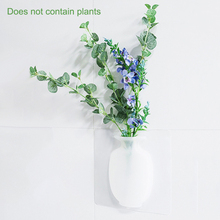 Silicone Wall Hanging Vase Bottle Flower Vase for Plant Flower Home Living Room Window Decoration plant leaves in the vase printed tassel wall hanging painting