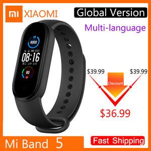 Xiaomi Monitoring-Bracelet Fitness-Tracker Smart-Watch Mi-Band Health 5-Global-Version