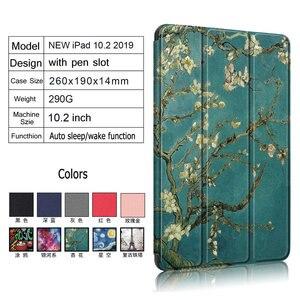 Image 2 - Folding Smart Case for Coque iPad 7 Gen 10.2 Folio Case iPad 10.2 2019 Cover Pen Holder for iPad 7th Gen Case A2200 A2198 A2232