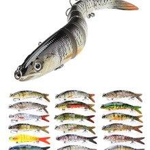 VTAVTA 10/14 см тонущие рыболовные приманки, наживки, соединенные Crankbait Swimbait 8 сегментная жесткая искусственная приманка для рыболовных снастей
