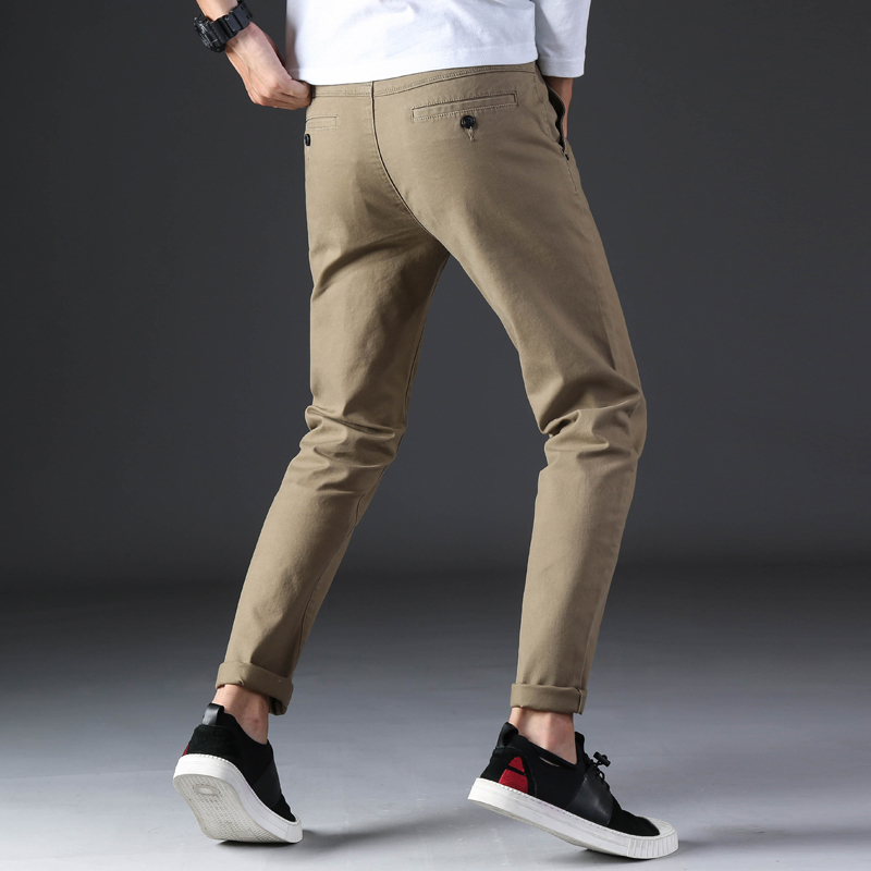 KSTUN 2020 Spring Summer New Casual Pants Men Cotton Slim Fit Chinos Fashion Trousers Male Brand Clothing Basic Mens Pants 12