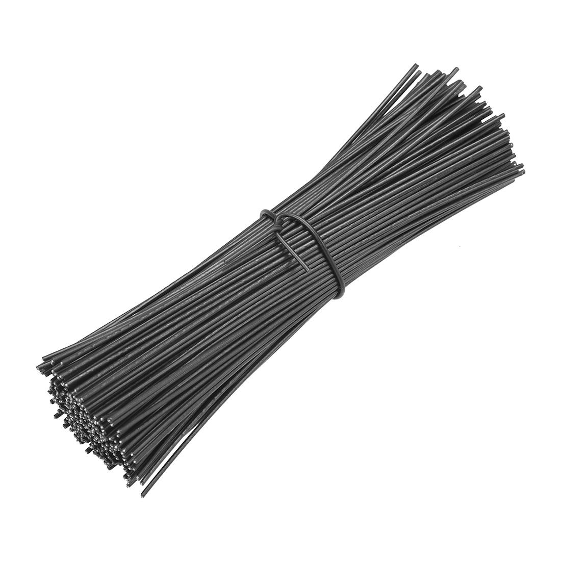 Uxcell 500pcs 100mm 120mm 150mm 200mm Metallic Twist Ties 1mm 1.8mm Width Black White Plastic Cable Cord Ties