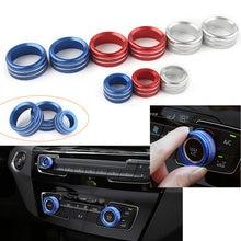 Manopole di controllo dell'interruttore del climatizzatore Audio universale copertura dell'anello di rivestimento per BMW 1 2 3 4 5 6 7 serie GT X1 X3 X4 X5 X6 13-18