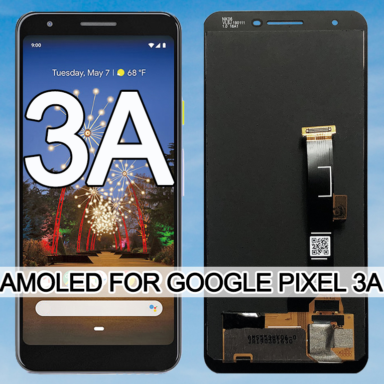 Оригинальный ЖК-дисплей 5,6 дюйма AMOLED для Google Pixel 3A, сенсорный дигитайзер, экран для Google Pixel 3A OLED, замена без битых пикселей