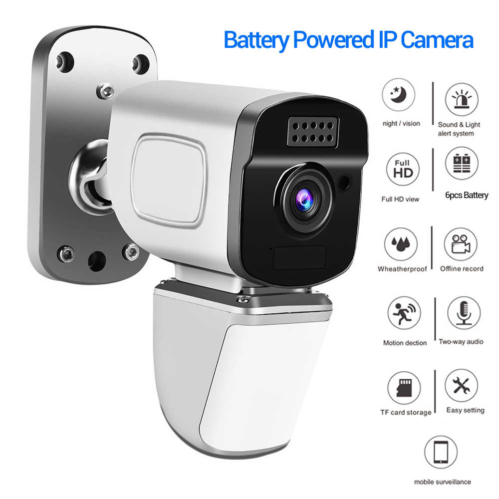 WiFi IP Security Camera 1080P Rechargeable Battery Powered Wireless Security Surveillance Camara outdoor ipcam cam