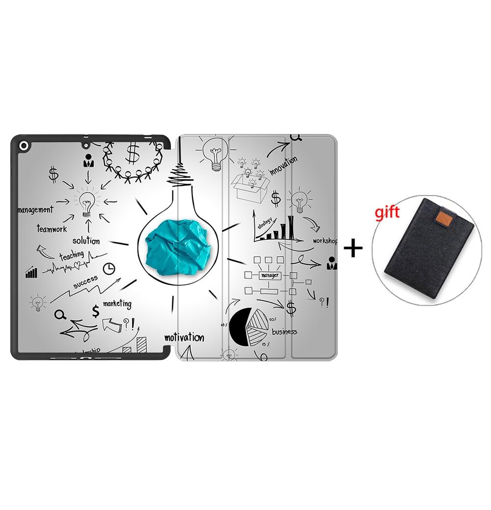 IPBC17 MULTI MTT Tablet Case For iPad 10 2 7th 8th Generation 2020 TPU Back PU Leather Flip