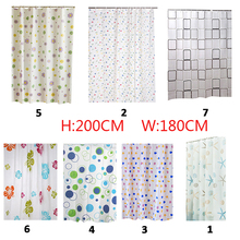 Bathroom Shower Curtains Waterproof PEVA with 12pcs hook Mildew Proof Curtain7 Styles For Choose