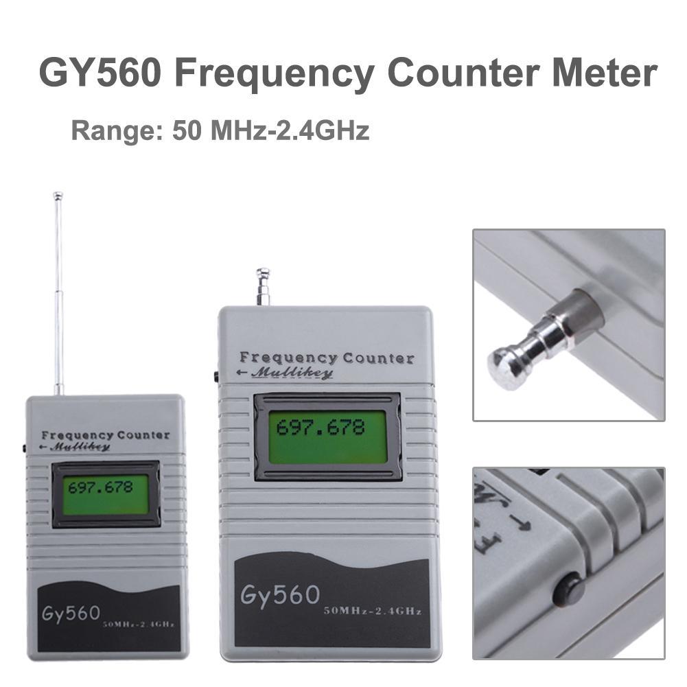 Цифровой счетчик частоты 7 значный ЖК-дисплей Дисплей для двухстороннее радио приемопередатчик GSM 50 МГц-2,4 ГГц GY560 счетчик частоты