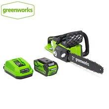 Greenworks 40v 4.0ah bateria sem fio serra de corrente motor sem escova motosserra com 4.0ah bateria e carregador