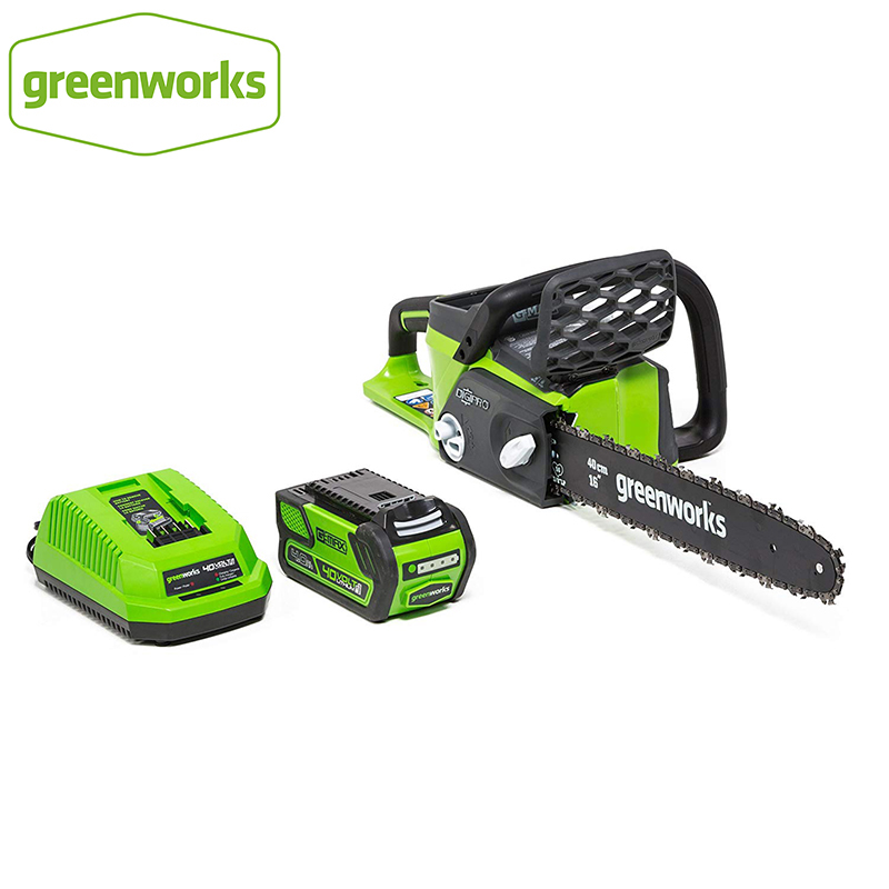 Greenworks 40v 4.0Ah Cordless Chain Saw Brushless Motor 20312 Chainsaw With 4.0ah Battery And Charger