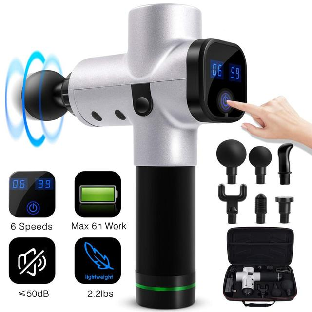 Tissue Massage Gun Muscle Massager Muscle Pain Management after Training Exercising Body Relaxation Slimming Shaping Pain Relief