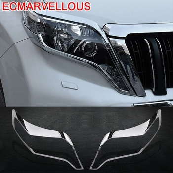 Auto Trunk Grille Rear Fog Lamp Headlamp Automobile Modified Chromium Car Styling Bright Sequins 14 15 16 17 FOR Toyota Prado
