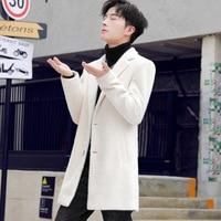 HO new 2019 woolen cloth coat men leisure joker knitting coat