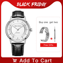 Seagull Mens Watch Automatic Mechanical Watch Classic Series Business Casual Waterproof Sapphire Watch 519.12.6061