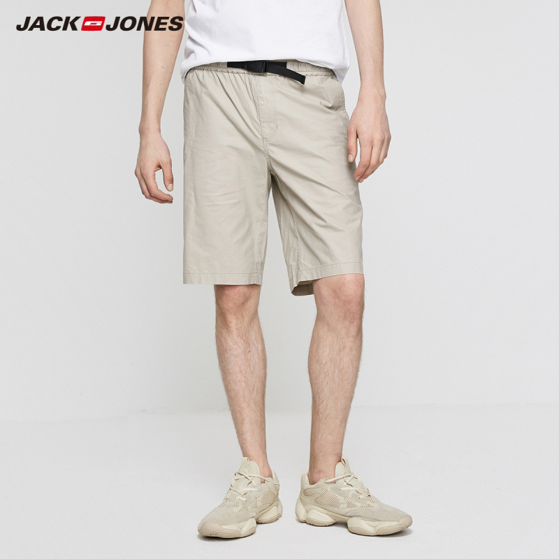 JackJones Men's New Arrival Loose Straight Fit Pure Color Stretch Cotton Shorts Basic Menswear| 219215521