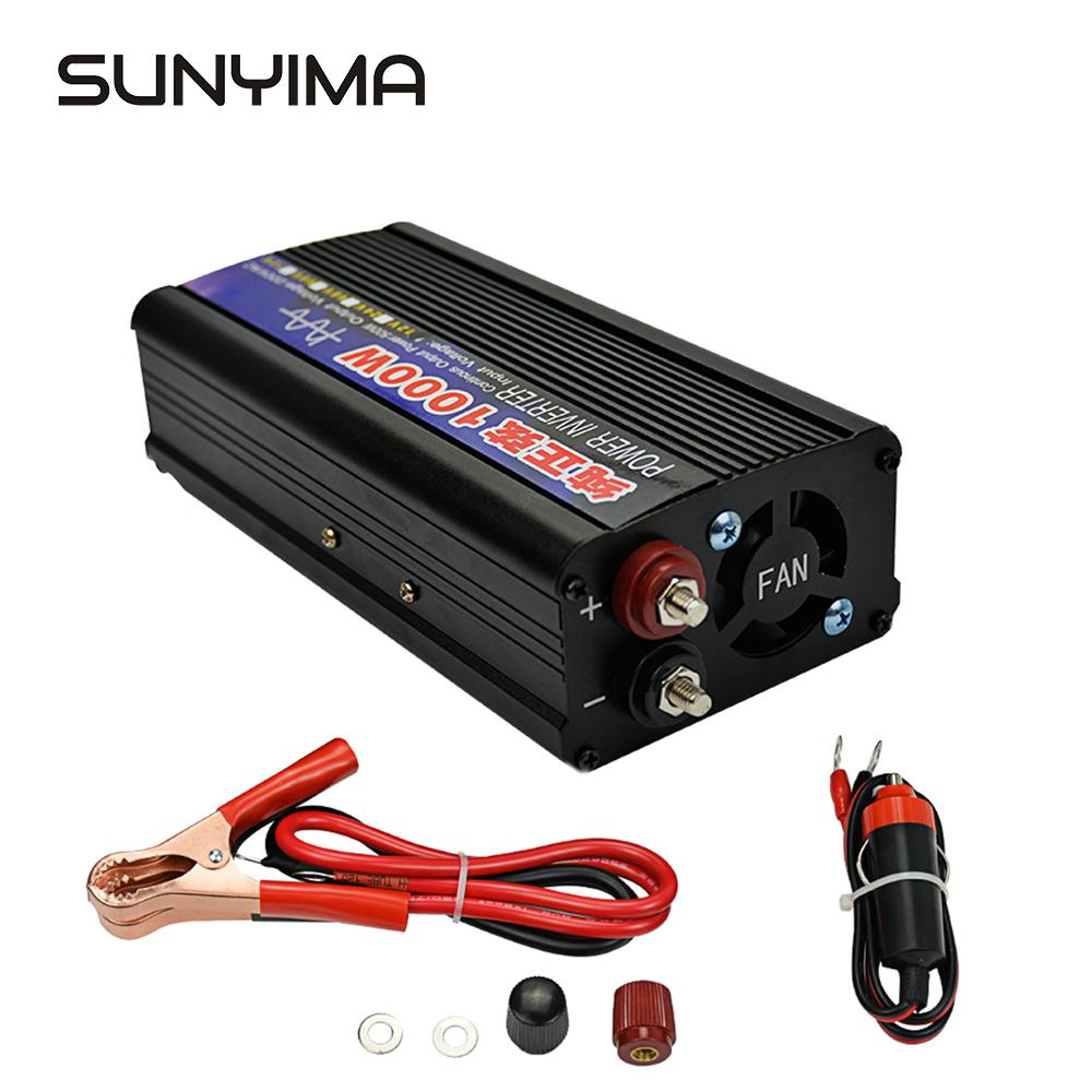 SUNYIMA  Pure Sine Wave Inverter 1000W DC12V/24V To AC220V 50HZ Power Converter Booster Voltage Transformer