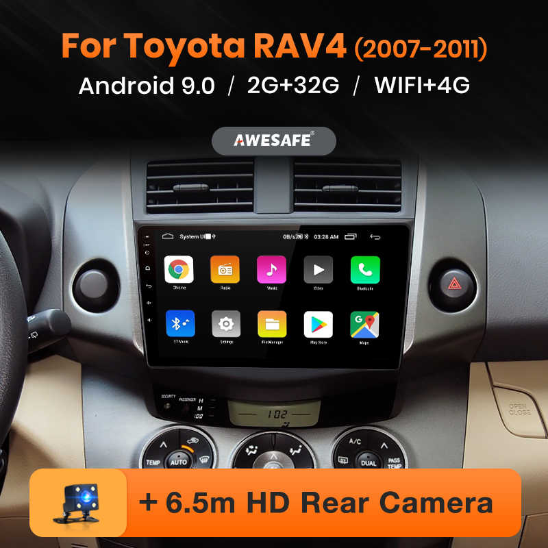 AWESAFE PX9 para Toyota RAV4 Rav 4 2007-2011 auto Radio Multimedia reproductor de video GPS No 2 din Android 9,0 2GB + 32GB