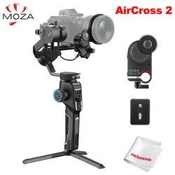 Moza AirCross 2 3-Axis Handheld Gimbal Stabilizer & iFocus-M Follow Focus Motor for Sony DSLR Mirrorless Camera vs DJI Ronin SC