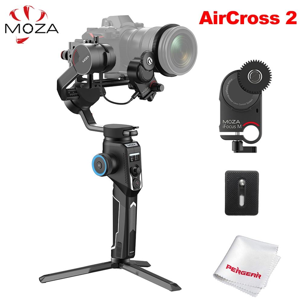 Stabilisateur de cardan portable 3 axes Moza AirCross 2 et moteur de mise au point ifo-m pour appareil photo sans miroir Sony DSLR vs DJI Ronin SC