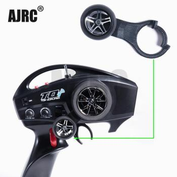 AJRC TQI One-Hand Steering Wheel Controller for 1/10 Rc Tracked Vehicle Traxxas SUMMIT X-MAXX E-REOV Trx4 BRONCO Trx-6 Tactics area rc wheel extenders for traxxas x maxx 1 5