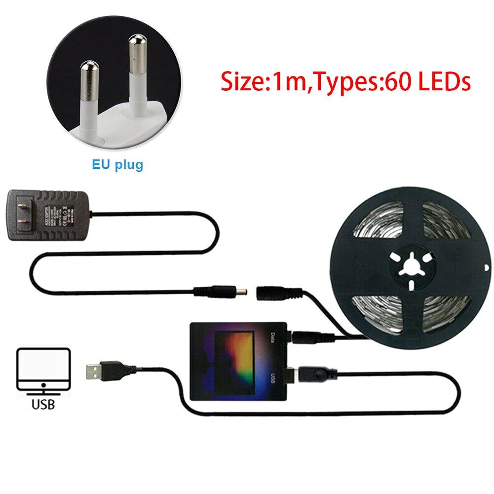 Home Decor LED Strip Light Kit RGB USB For Desktop PC Flexible TV Back Computer Ambient Dream Color Durable Screen Monitor