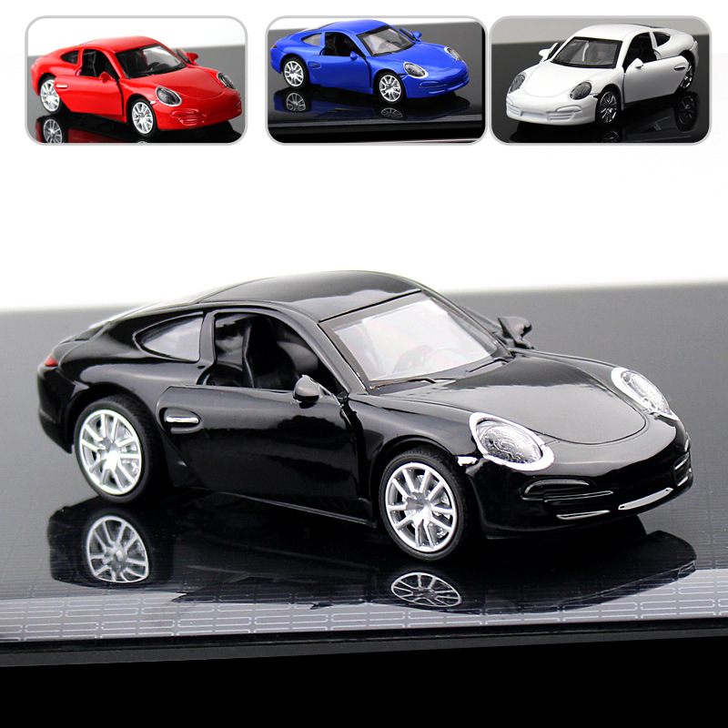 New Alloy Sports Car 911 Car Model Power Toy Car Car Accessories Gift Box For Boys And Girls